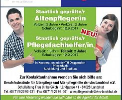 Neue Ausbildungen - Beginn 12.09.2017